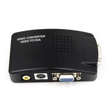 AV Video S Video VGA A VGA cavo Delladattatore del Convertitore CRT/LCD monitor switch box Per CCTV Della Macchina Fotografica DVD DVR PC