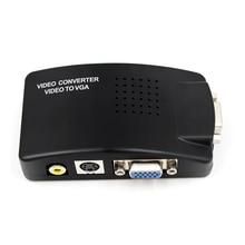AV Video S Video VGA Naar VGA Converter Adapter kabel CRT/LCD monitor switch box Voor CCTV Camera DVD DVR PC