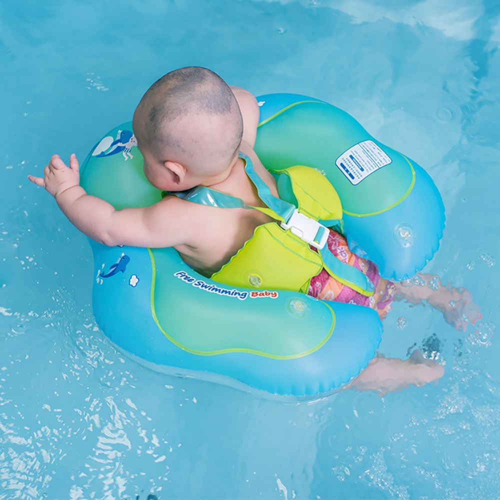Infant Safety Inflatable Pool Float Baby Waist Circle Float Swimming Pool Swim Ring With Inflator Plump for 2-6 Years Children baby pool floats kids safety swimming pool seat toys children swim circle new arrival baby inflatable boat