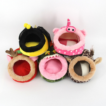 Cute Soft Plush Hamster Bed Guinea Pig House Cage Warm Nest Mouse Rat Nest Bed Small Pets Products 1
