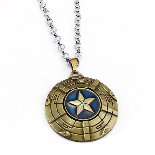 Captain America Shield Necklace 2