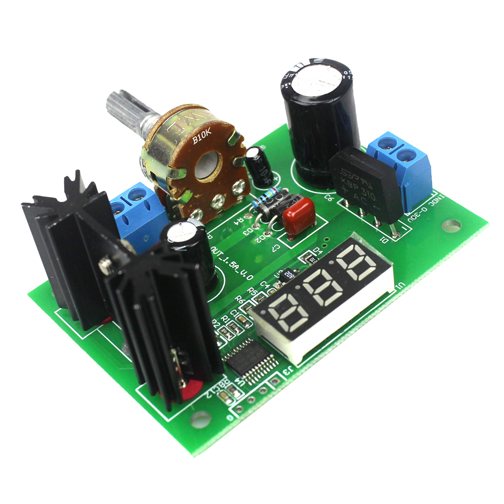 LM317 AC/DC Continuously Adjustable Voltage Regulator Step-down Power Supply Module with LED Display 1.25V-28V DC 6es7284 3bd23 0xb0 em 284 3bd23 0xb0 cpu284 3r ac dc rly compatible simatic s7 200 plc module fast shipping