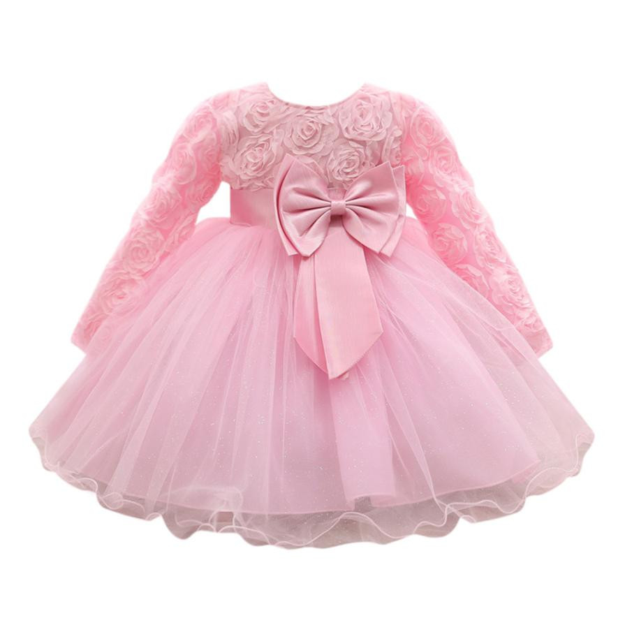 Flower Baby Clothes Girl Floral Princess Dress Bridesmaid Pageant Gown Birthday Party Wedding Dress Vestidos De Ninas @9214 2017 new flower embroidery girl dresses pageant party wedding bridesmaid ball gown prom princess long dress girl clothes