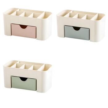 Msjo Makeup Box  Organizer Jewelry Necklace Nail Polish Earring Plastic Storage Box Home Desktop Organizer For Cosmetics