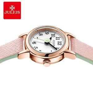Image 2 - מיני קטן נשים של שעון יפן קוורץ שעות אופנה שעון גברת עור צמיד ערבית מספר של הילדה יום הולדת מתנת יוליוס תיבה