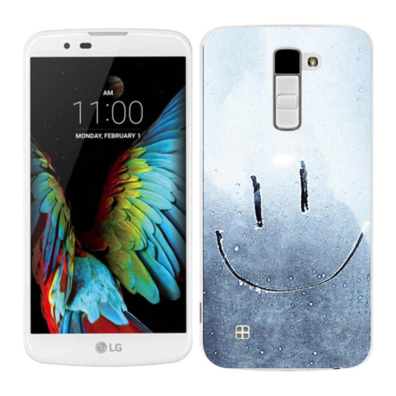 LG K10 מקרי שעועית צבוע טלפון חזרה Fundas כיסוי סיליקון עבור K10 Lte K 10 M2 K410 K420N k430DS F670 Coque