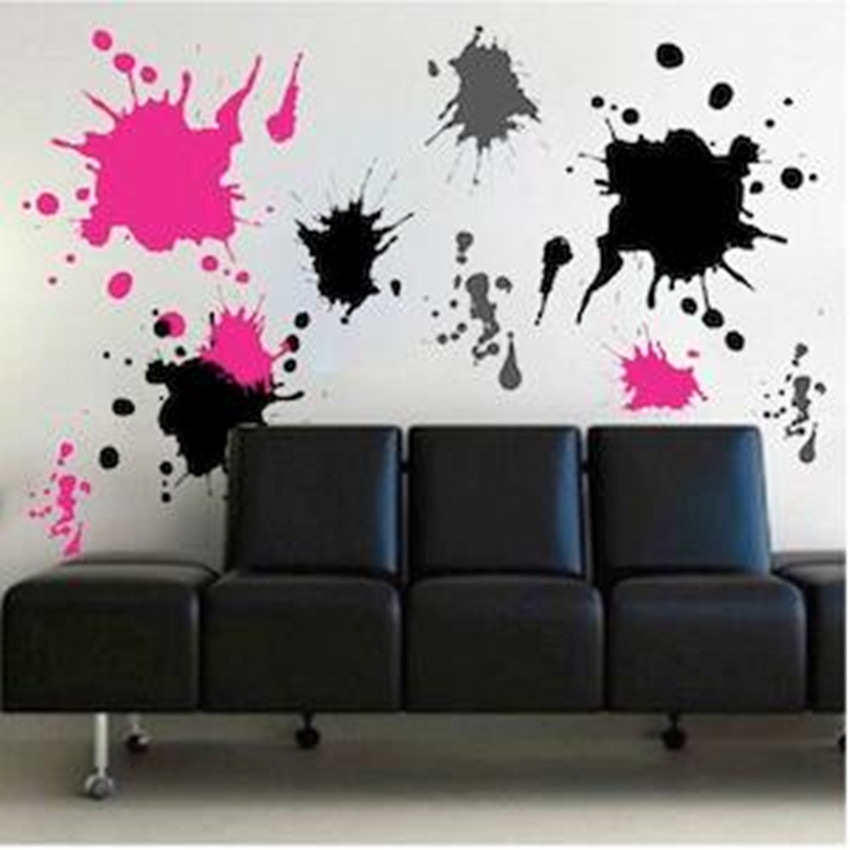 Aliexpress.com : Buy Ink Splash Wall Decals Wall Stickers Bedroom Stickers  Room Decor Decal Removable Wallpaper From Reliable Removable Wallpaper  Suppliers ... Part 96