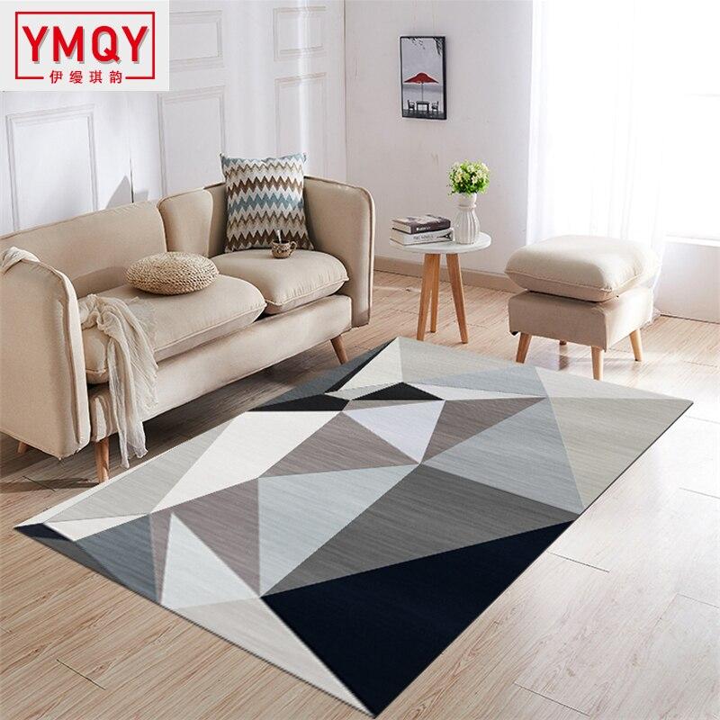 Tapis modernes pour le salon Rectangle tapis géométriques grand tapis de sécurité anti-dérapant chambre d'enfants tapis décoratif chambre
