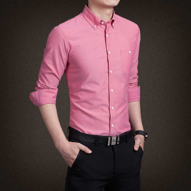 2019 Autumn Style Mens Dress Shirts Long Sleeve Formal Working