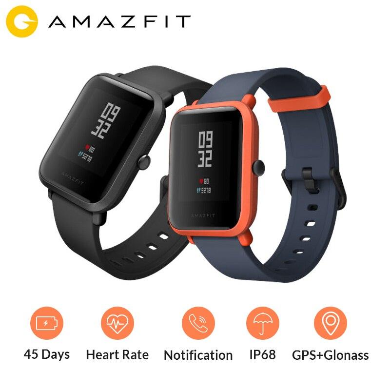 Version mondiale Huami Amazfit Bip montre intelligente GPS Gloness Smartwatch montre intelligente 45 jours en veille pour téléphone MI8 IOS Intelligent