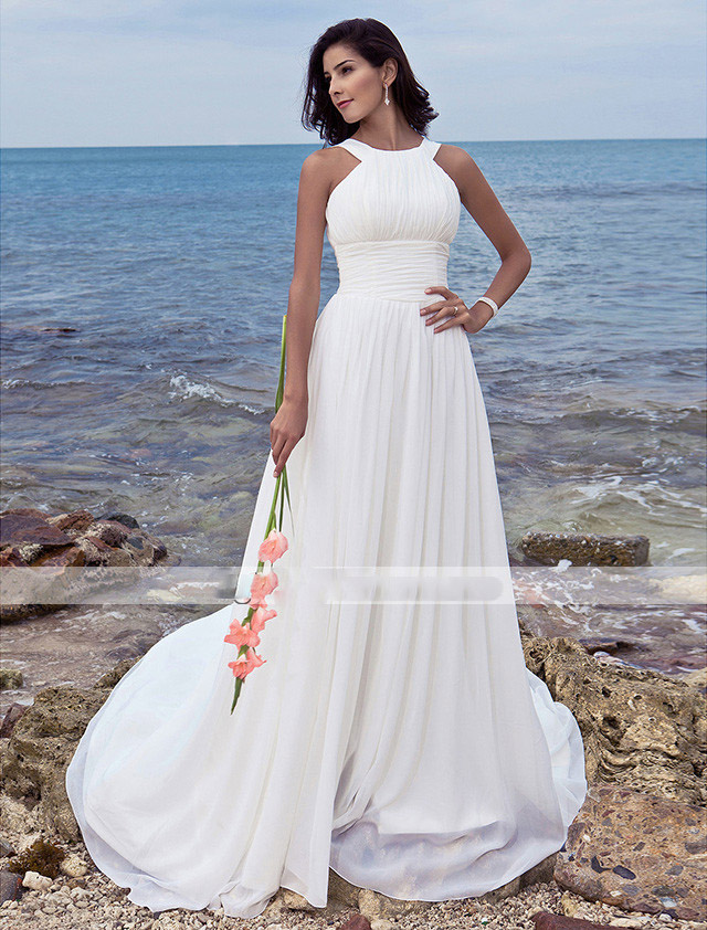 Popular Plus Size Beach Wedding Dresses for Women-Buy Cheap Plus ...