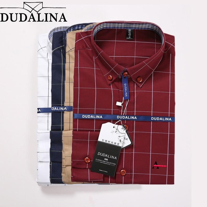 Dudalina Camisa Social Masculina 2018 Men Shirt Embroidery Logo Long Sleeve Business Casual Shirts Men Famous Brand