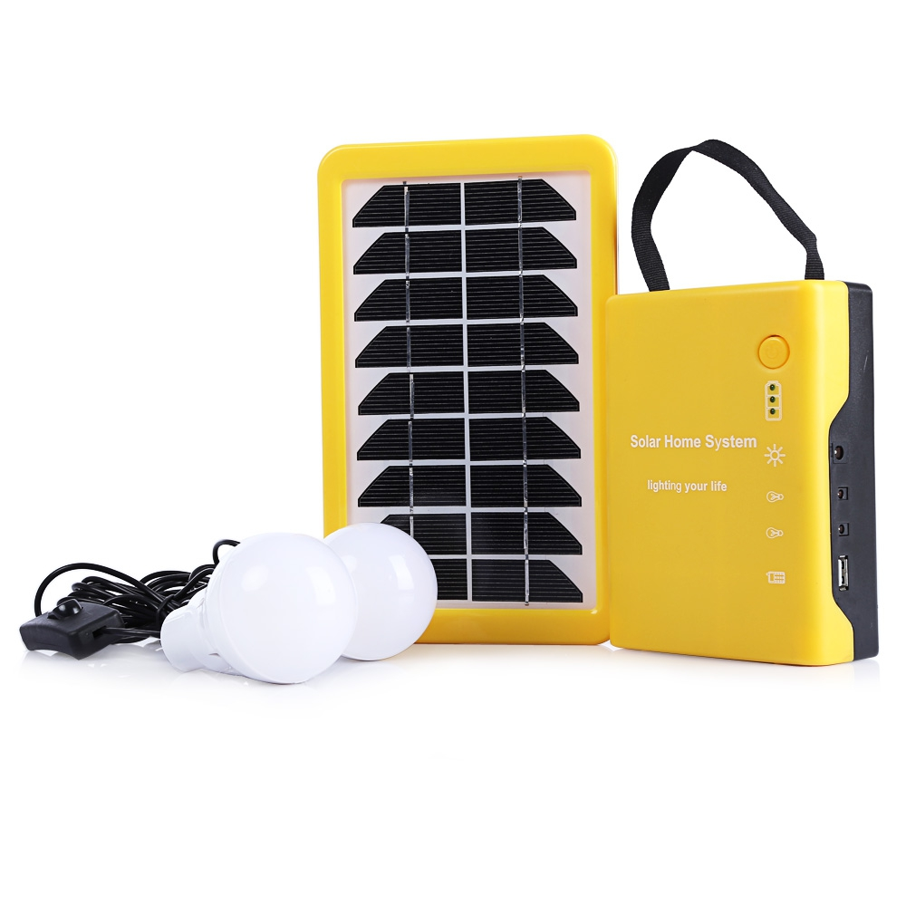 Outdoor Camping Solar Powered Portable Tent Light with Home Lighting System 2000mAh / 6V Lead-acid Batteries Travel Led Light new multifunction rechargeable led camping light lanterns solar powered fan outdoor portable lanterns solar tent light lam lamp
