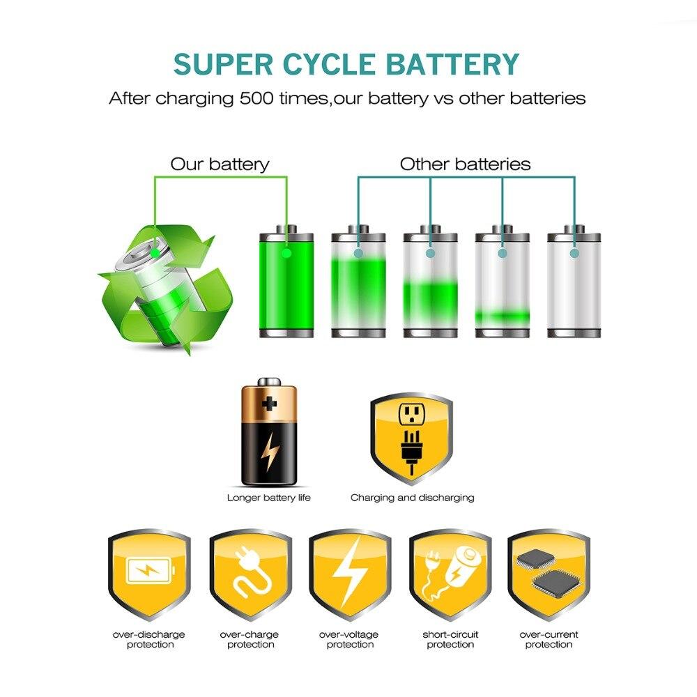 3X 7 2V 1500mAh Li ion EN EL14 Rechargeable Battery for Nikon P7200 P7700 P7100 D5500 D5300 D5200 D3200 D3300 D5100 D3100 L10 in Digital Batteries from Consumer Electronics