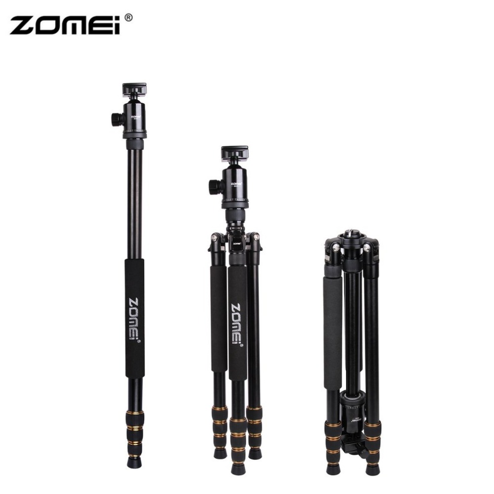Zomei Z688 Portable Flexible Camera Tripod With Ball Head Quick-Release Plate Carrying Case For DSLR SLR Camera zomei portable flexible camera tripod stand aluminum with ball head quick release plate for dslr slr camera with carrying case