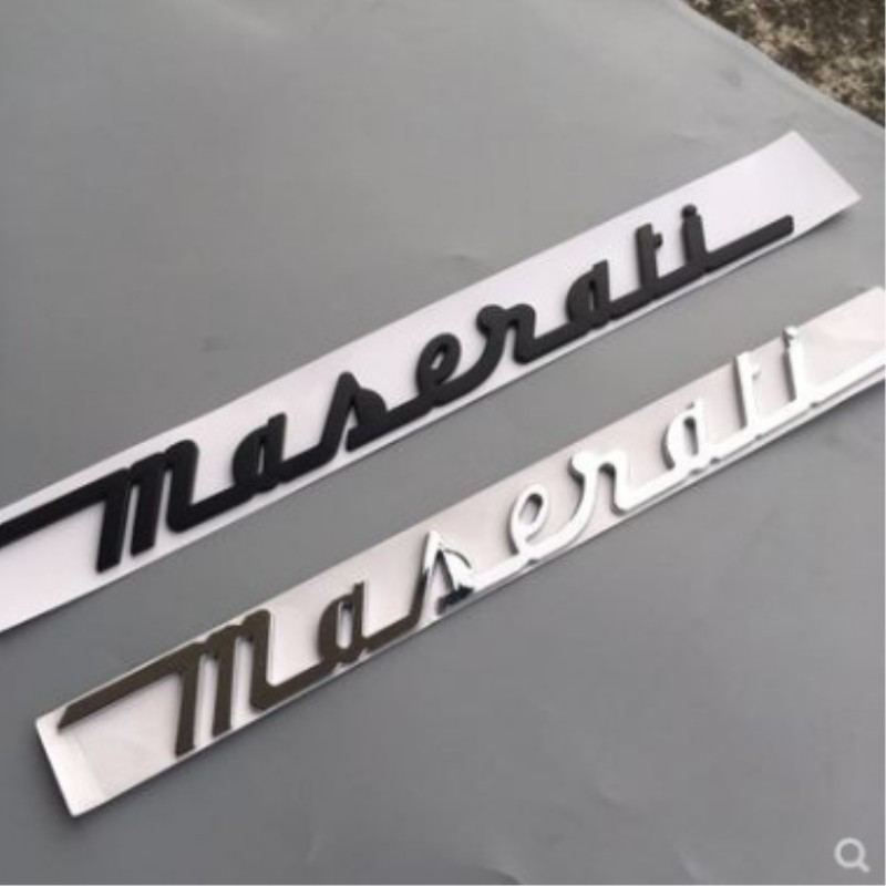 Car Rear Emblem Sticker Decal Badge Accessories Black Logo For Maserati Ghibli