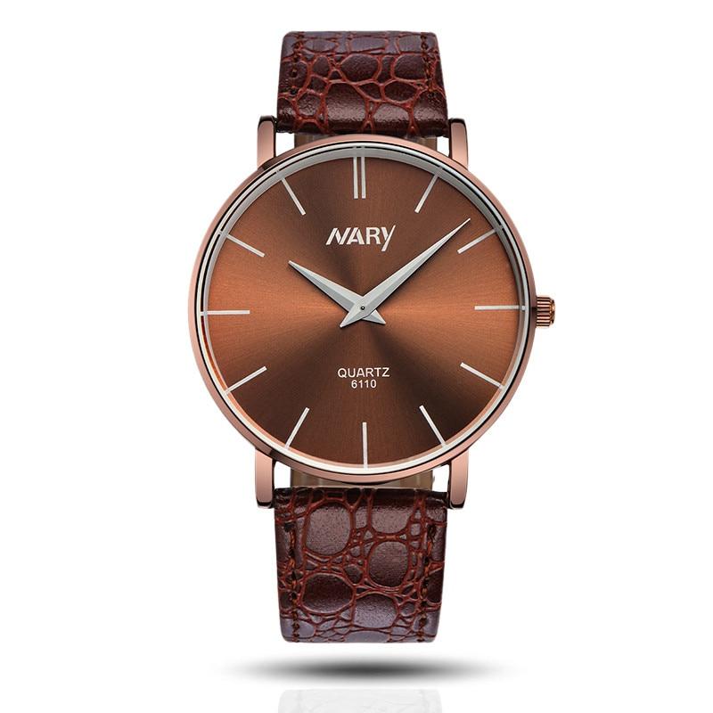 Mance 1 unid regalo de calidad impermeable de marca de lujo de los hombres  relojes Slim Big dial negocio reloj del cuarzo del cuero del deporte relogio 8f7003bba78d