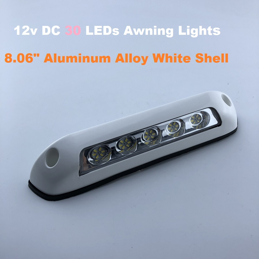 12v Heavy Duty Awning Annex Lights  30 LEDs Wall Light Bar Porch Exterior Strip Lamp Camper Trailer Yacht Boat Motorhome Camping