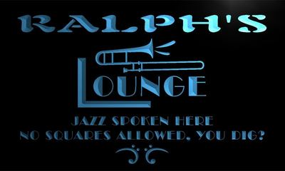 x0063-tm Ralphs Jazz Music Lounge Pub Bar Custom Personalized Name Neon Sign Wholesale Dropshipping On/Off Switch 7 Colors DHL