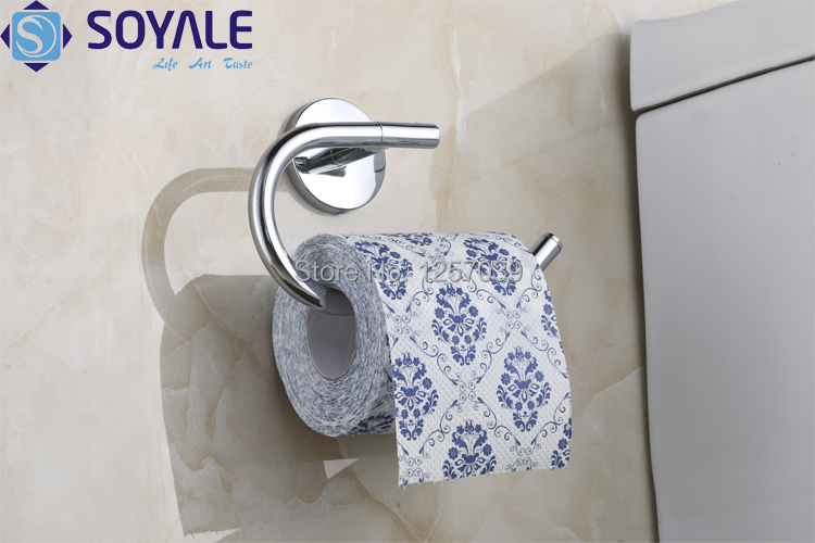 Free Shipping bathroom accessories zinc chrome toilet paper tissue roll holder rack SY 5951A
