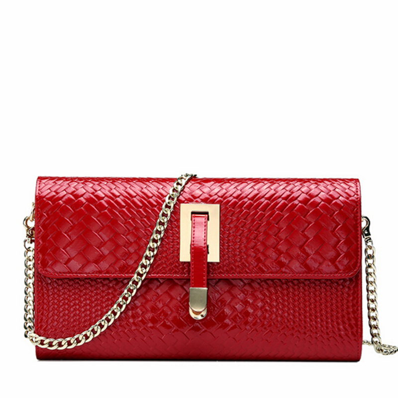100% Geniune Leather Clutch Purse Vintage Small Evening Clutch Bag Red Bridal Wedding Party Purse Clutch Women Leather Handbags