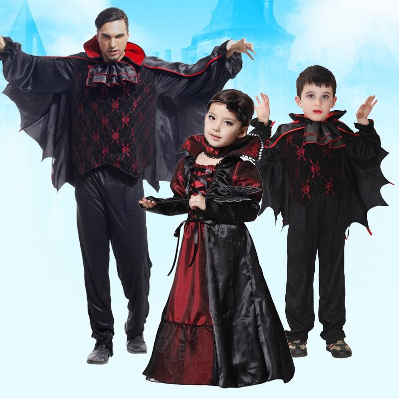 Famiglia di vampiri costume suite vestito cosplay orrore per il