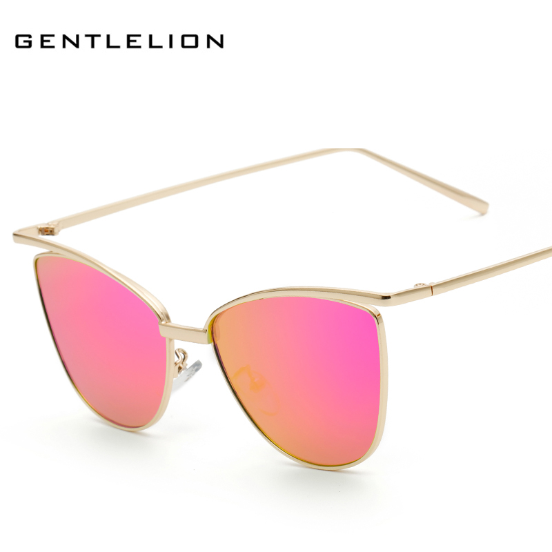 New Fashion Women Sunglasses Cat Mirror Glasses Metal Cat Eye Sunglasses Women Brand Designer Square sun glases 2262 ...