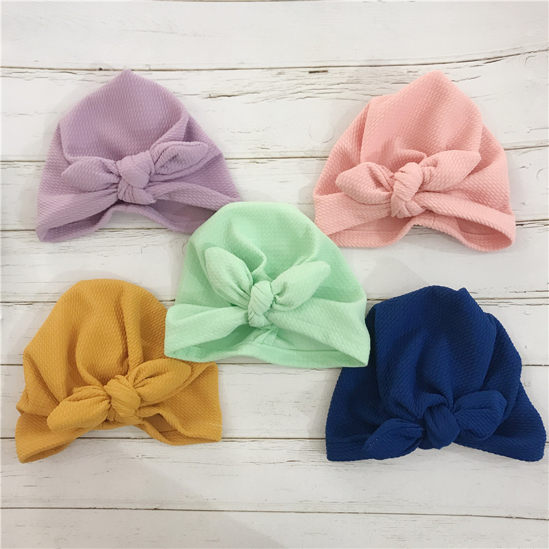 2019 Baby Hat Girls Boho Elastic Tie Scarf Turban Head Wrap Baby Cap Girls Winter Hats For Kids Photography Accessories Soft Hat