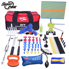 PDR Paintless Dent Repair Tools kit yellow line Reflector Board Big sucker dent puller lifter pulling bridge wedge pump tools