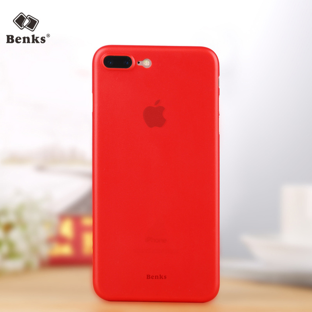 big sale b8466 a16ec US $7.99 |Benks case for iPhone 7 matte phone shell thin for apple 7 Plus  Shell China lucky Red 7P 0.4mm Hard PP phone back cover -in Fitted Cases ...