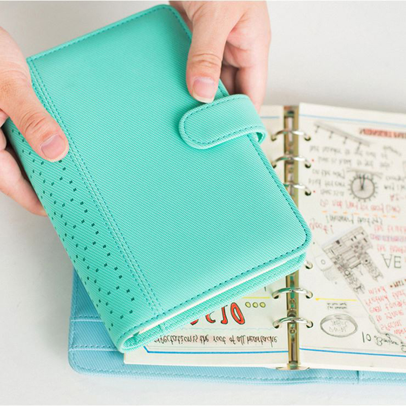 2018 New Openwork PU Leather Spiral Notebooks Stationery Fine Person Agenda Organizer Diary Weekly Planner Memorandum A5 A6