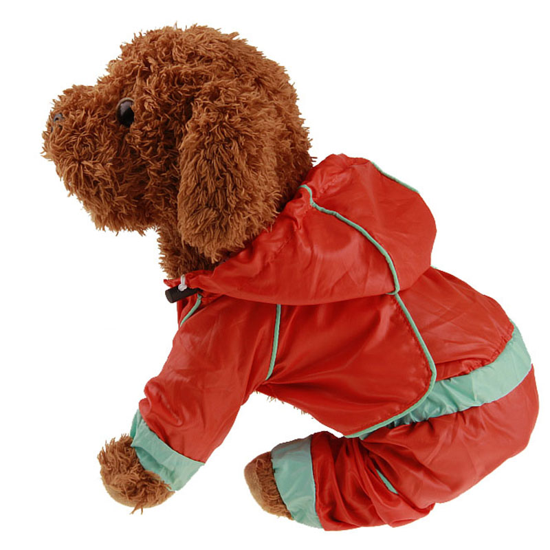 Pet Dog Raincoat Waterproof Puppy Hooded Jacket Rainwear Clothes for Small Medium Large Dogs