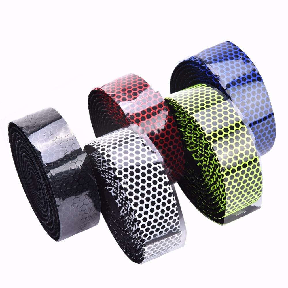 5 Color Road Bike Silicone Handlebar Tape Anti-Slip Three-Dimensional Hive Comb Belt Breathable Ultralight Bike Bar Tape