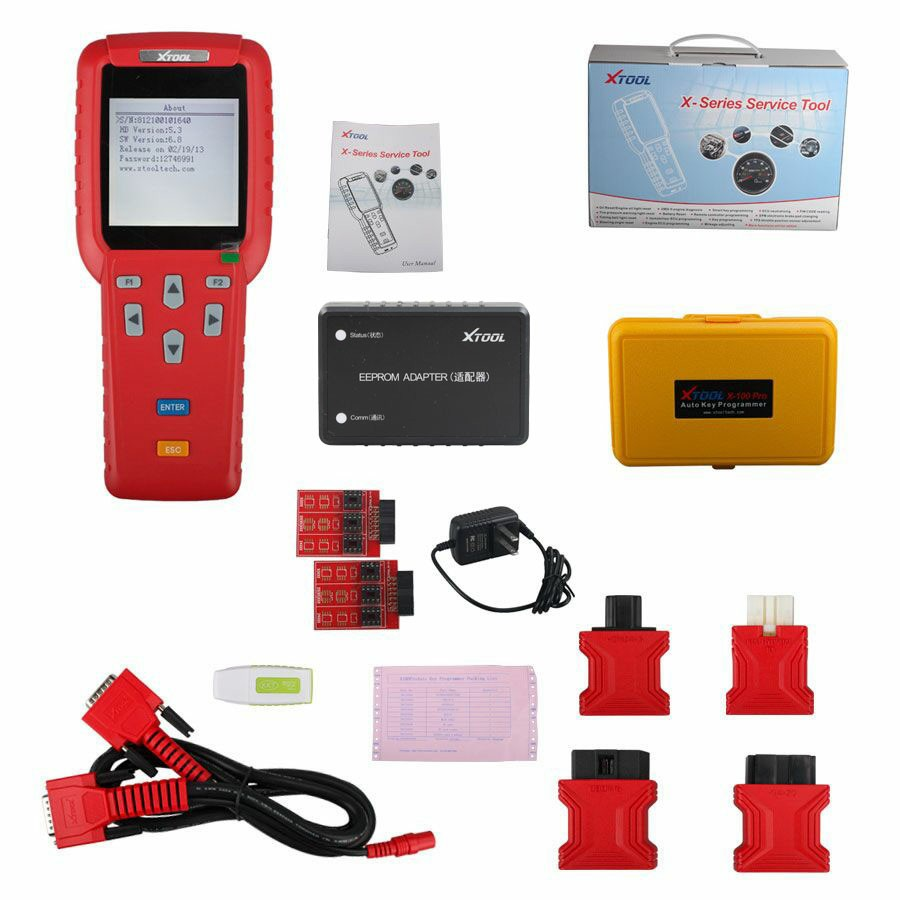 XTOOL X100 PLUS PRO Car Key Programmer Tool Auto Key Code Reader Software Universal Automotive Adapter Update PK T300 CK100 R270