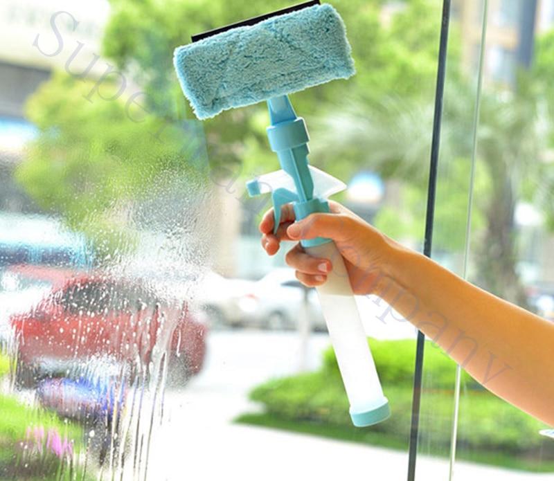 Two sided Scrub window cleaning tools artifact scraper brush tool Spraying scraping brushing in this one