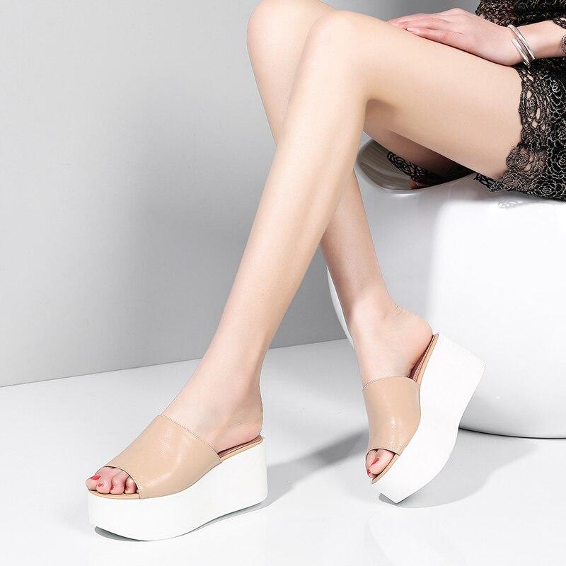 Dilalula/2019 г.; брендовая качественная роскошная женская обувь из натуральной кожи на плоской платформе; женские повседневные вечерние летние б... - 2