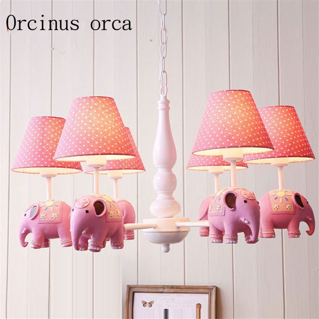American Simple Cartoon Small Elephant Chandelier Boys And S Bedroom Children Room Lovely