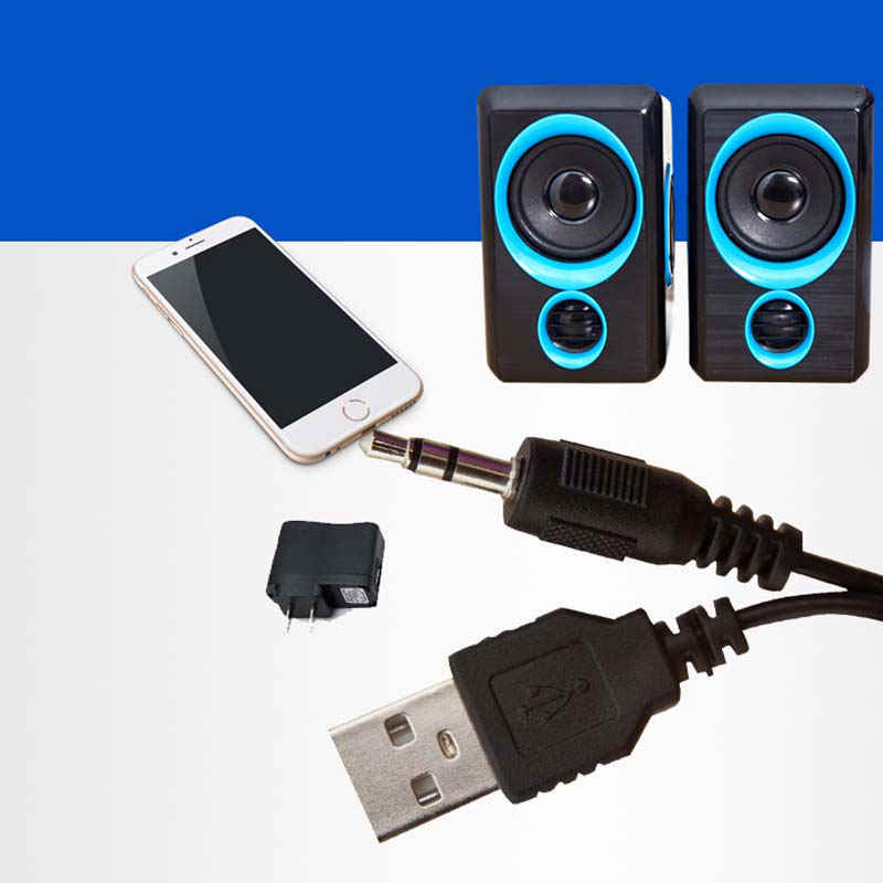Panas!! Surround Komputer Portable Speaker dengan Stereo Bass USB Kabel Didukung Multimedia Desktop Speaker untuk PC Laptop