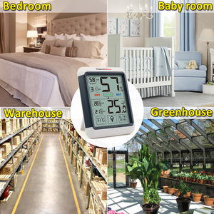 Image 3 - Thermopro TP55 デジタル温度計湿度計屋内屋外の温度計タッチスクリーンとバックライト温度湿度