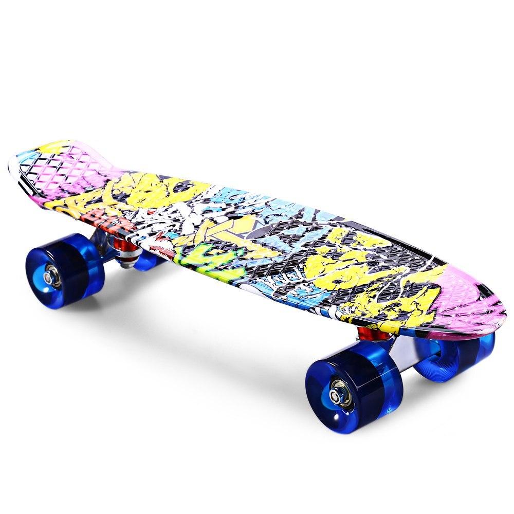 2016 Freestyle impression rue 22 pouces Dragon planche à roulettes impression Graffiti Style planche à roulettes complète rétro planche à roulettes Longboard
