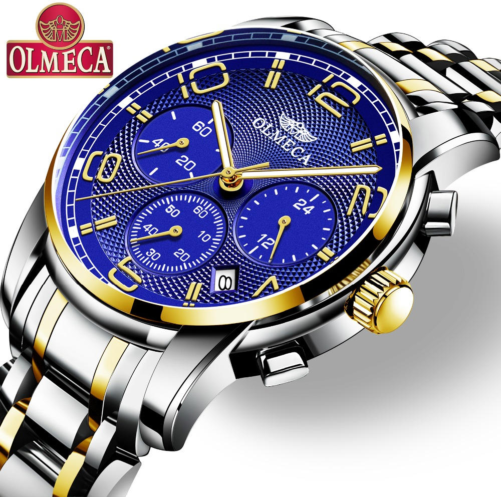 Men's Watch OLMECA Brand Quartz Military Watches Relogio Masculino Water Resistant Wrist Watch Chronograph Watches for Men цена и фото