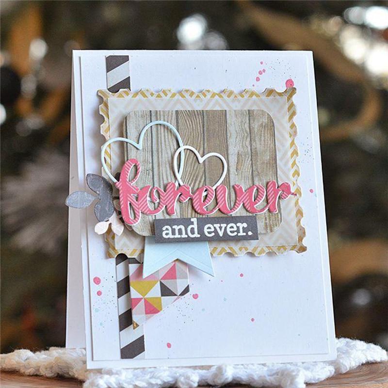 YaMinSanNiO Love Sweet Heart Forever Words Metal Cutting Dies New 2019 Dies Scrapbooking for Card Making Crafts Dies Stencil in Cutting Dies from Home Garden