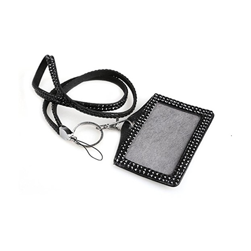 Card & Id Holders Luggage & Bags Nice Fggs-horizontal Resin Rhinestone Work Card Id Case Holder Lanyard Sling High Quality Materials