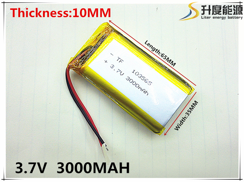 Story machine general rechargeable lithium polymer battery 3.7 V 103565 large capacity 3000 mah Free shipping