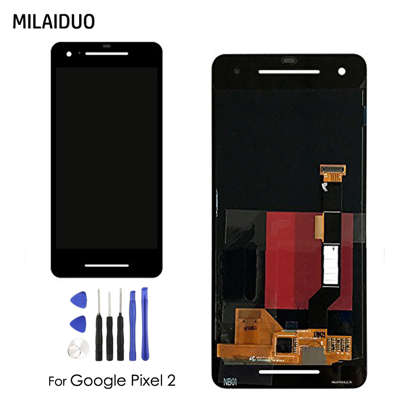 Original TFT LCD Display For Google Pixel 2 IPS LCD Touch Screen Digitizer Assembly Replacement 5.0 No Frame + Tools