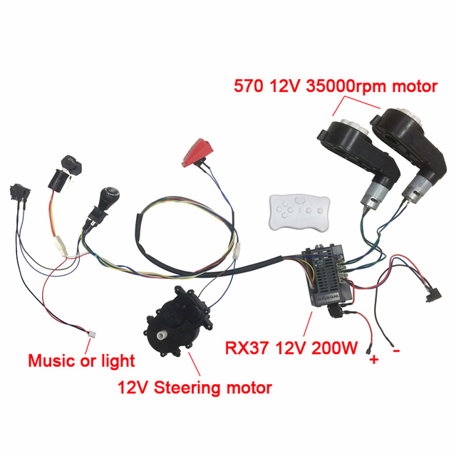 Children Electric Car Diy Accessories Wires And Gearbox Self Made