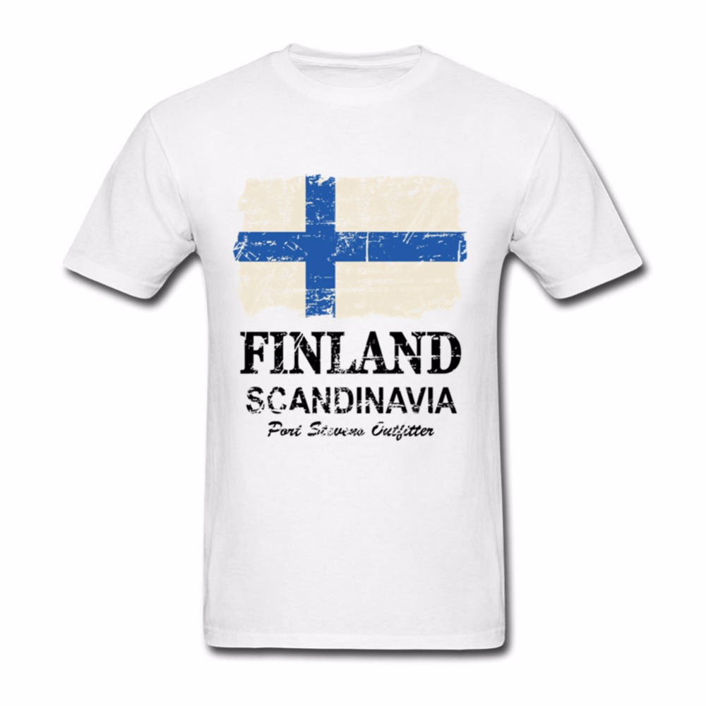 Vintage <font><b>Finland</b></font> <font><b>Flag</b></font> T <font><b>Shirt</b></font> Men Letter Tees Man Summer Printed T-<font><b>Shirt</b></font> Short Sleeve Cotton <font><b>Shirts</b></font> image