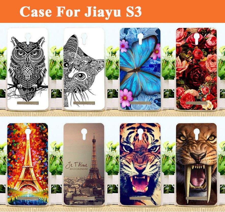 eaa99570eff Para Jiayu S3 cubierta libre del envío pintado colorido TPU suave para S3  Jiayu animal caliente de la manera flor Eiffel torre pintada