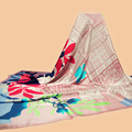 "Huajun || 16 years scarves brand new ""Landscape and Architecture"" 140 large square 100% silk twill scarves shawl Printing"