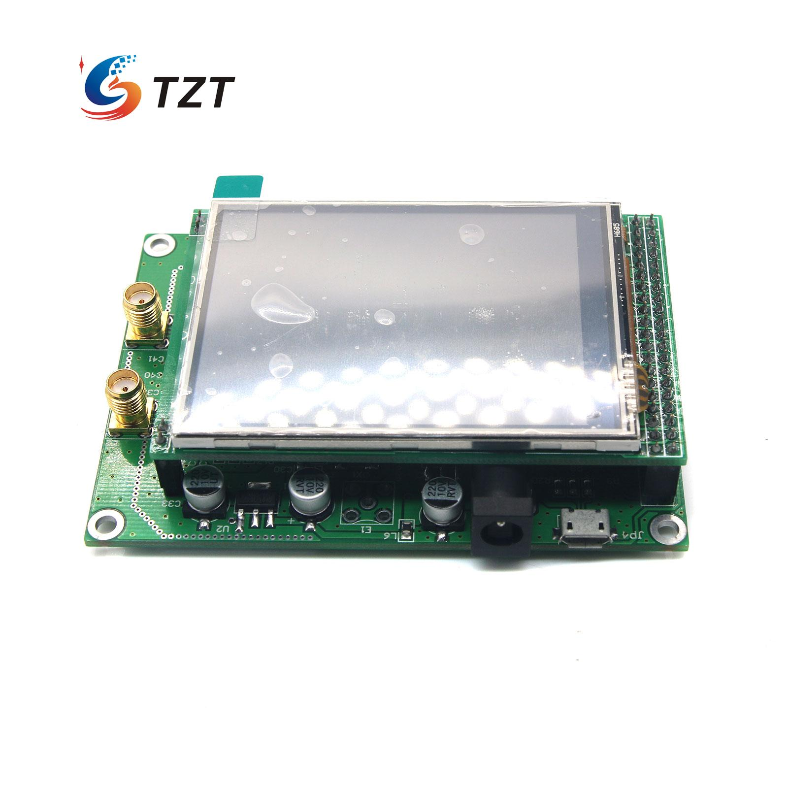 ADF4351 RF Sweep Signal Source Generator Board 35MHz to 4400MHz + STM32 TFT Touch LCD USB Cable adf4350 development board adf4351 development board 35m 4 4g signal source local oscillator signal source